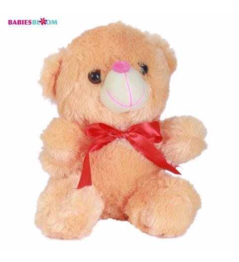 Babies Bloom Orange Cute Plush Stuffed Teddy Bear With Red Knot