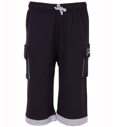 Ultrafit Junior Boys Black Cotton Capri240