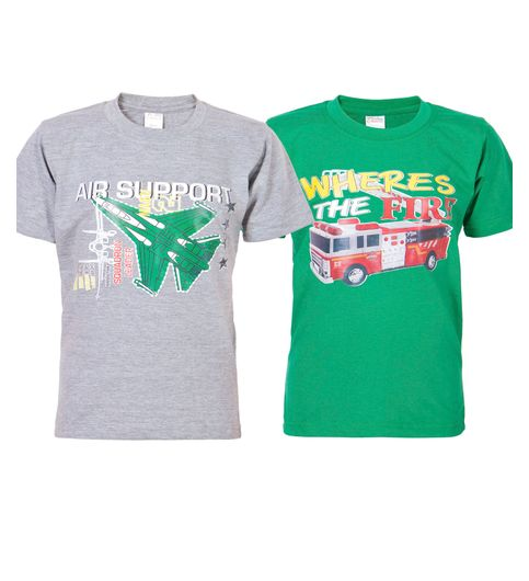 Ultrafit Junior Boys Cotton Multicolored T-Shirt- Pack of 2177