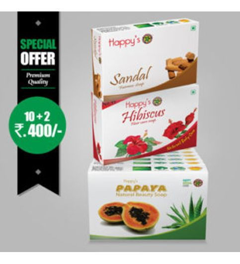 Happys Papaya Soap Soap Pay for 10 Get 12 Combo Offer