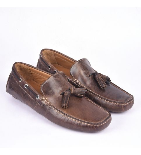 Classe Italiana Romain Tan Leather Loafers