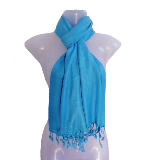 Muumuu Solid Turquoise Viscose Womens Stole