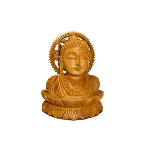 Craftofy Lord Buddha On Lotus Flower