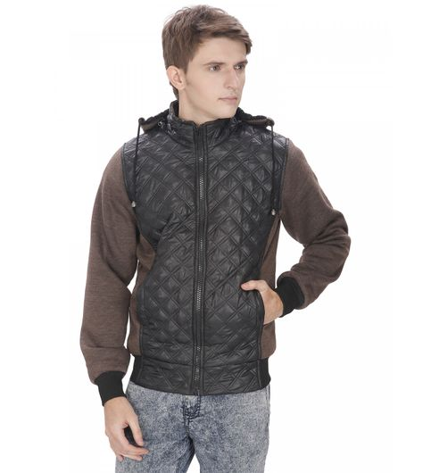 OPG Coffee Brown Quilted Jacket For Men