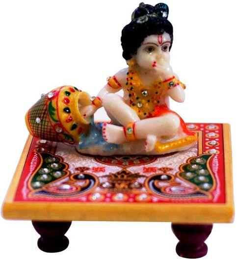 Kamakshi art Chowki with laddo Gopal