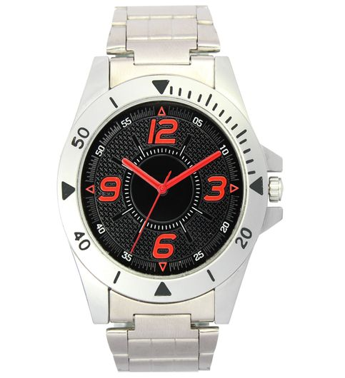 The Shopoholic Analog Black Dial White Steel Belt Watches For Boys-Men Watch Stylish2