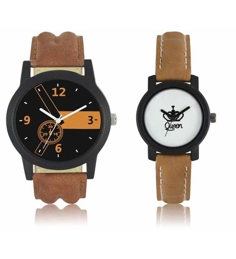 The Shopoholic Latest Analog Black Dial With Leather Belt Combo Watches For Men-Watches Girls Watch For Couple