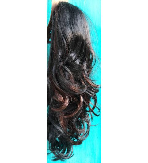 Brown High Lighter Pony Wig Extension Hair 24inch