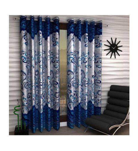 Abhi Decor Fancy Designer Blue Panel Door Curtains Pack Of 2