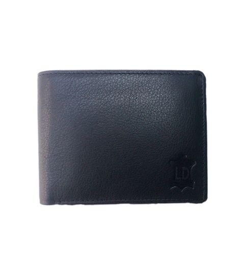 Leather Design Black Leather Designer Bi-fold Men Regular Wallet4