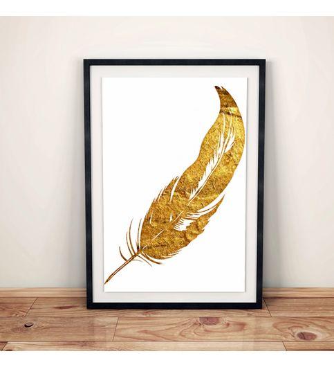 Gold Leaf Poster Print