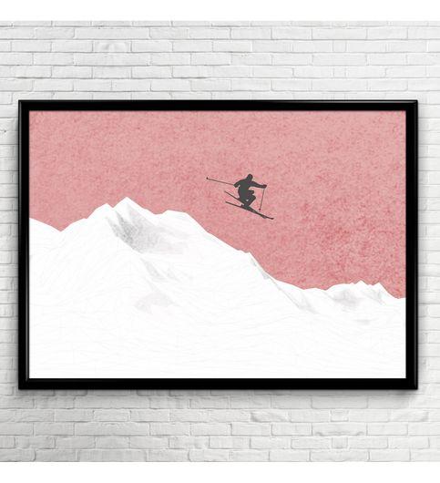 Mountain Ski Poster Print