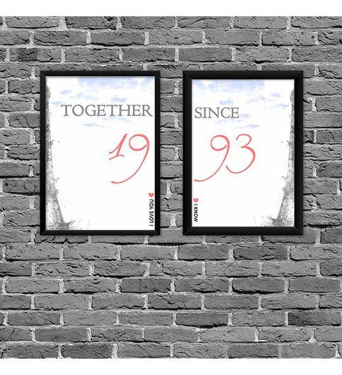 Together Since Love Custom Poster Print Set