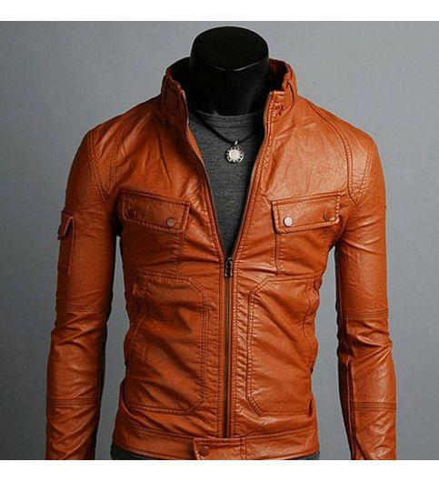 Leather Jacket For Men Brown