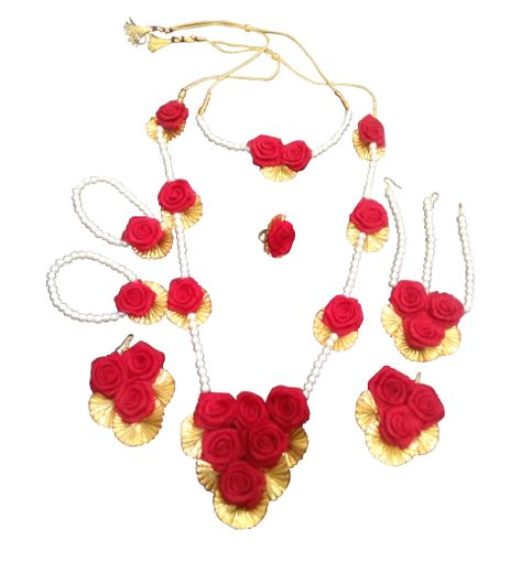 Buy Mehndi Flower Jewellery : Buy bridal gota flower jewellery for haldi and mehndi