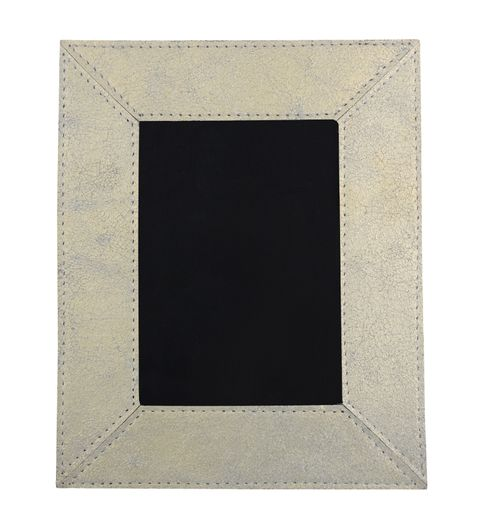 The Decor Mart- Pack of 1 Leather - Gold Photo Frame 281