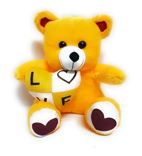 I LOVE YOU Yellow Teddy Bear Gift for your Husband Wife Girlfriend  Boyfriend New Year 2018