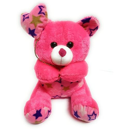 Teddy Bear with Heart Balloon by CGB Gift for Kids Pink 30 CM