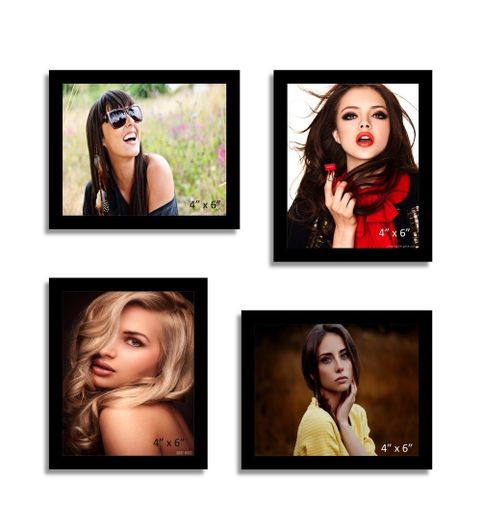 PHOTO FRAME BY FRME RT 4 PIECES BLACK WALL HANGING COLLAGE