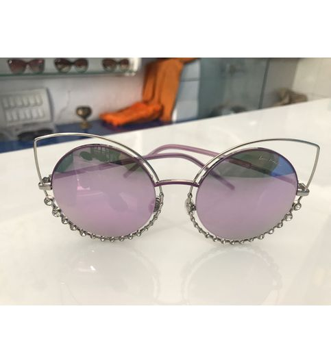 Purple Stone Stylish Sunglasses Sor09