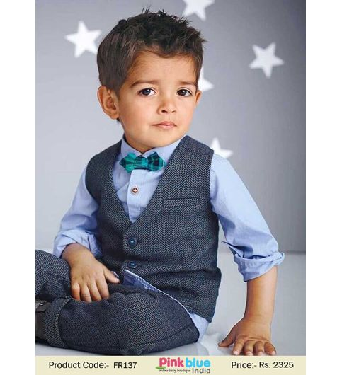 3 Piece Baby Boys Wedding Party Outfit  Suit
