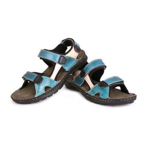 SCHUE MAKER Blue Beige Men Sandal