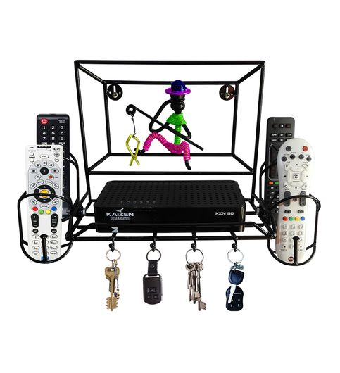 Set top box Stand with 4 remote holder and key holder