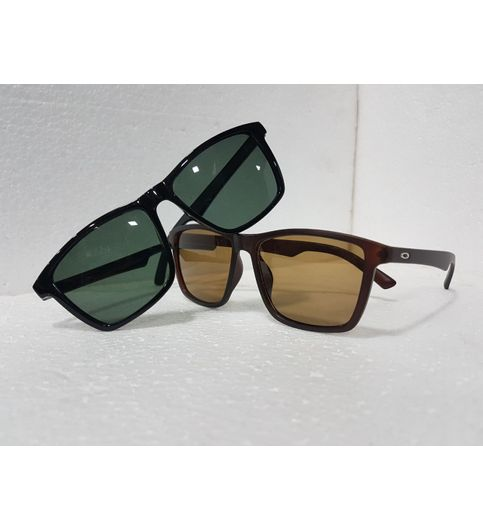 Sunglasses Black And Brown Fancy Goggles Combo Offer 2 Pice