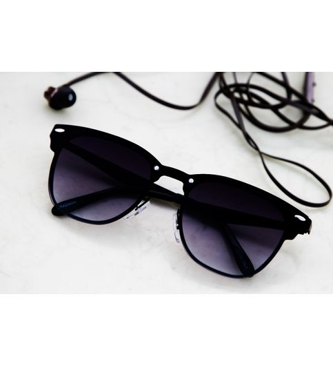 Sunglasses Black Fancy Square Frame Goggles