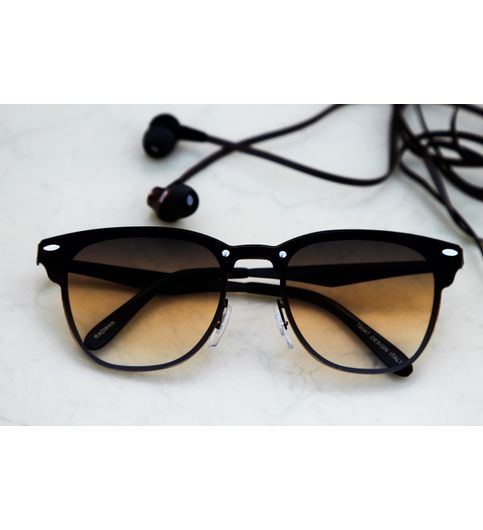 Sunglasses Brown Fancy Square Frame Goggles