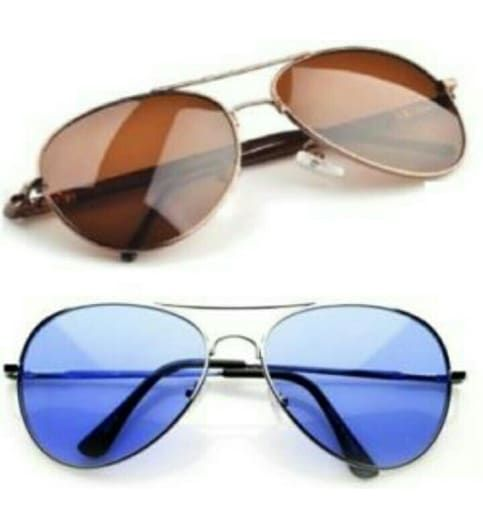 Sunglasses bla and brown aviator combo pack of 2 Goggles