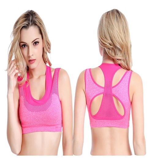 Womens Comfort Revolution Workout Fitness Sports Bras Fake Two Pieces Yoga Athletic Gym High Impact Underwire Padded Seamless Strap Racerback.-B078N8TFYK