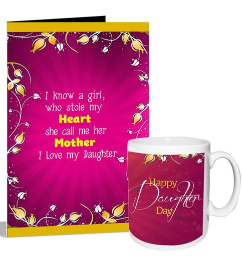 happy daughter day greeting card mug hamper 11