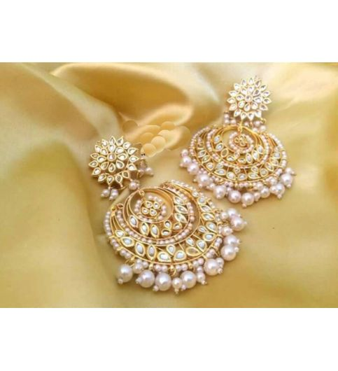 Earrings Kundan Jewellery Traditional Bollywood
