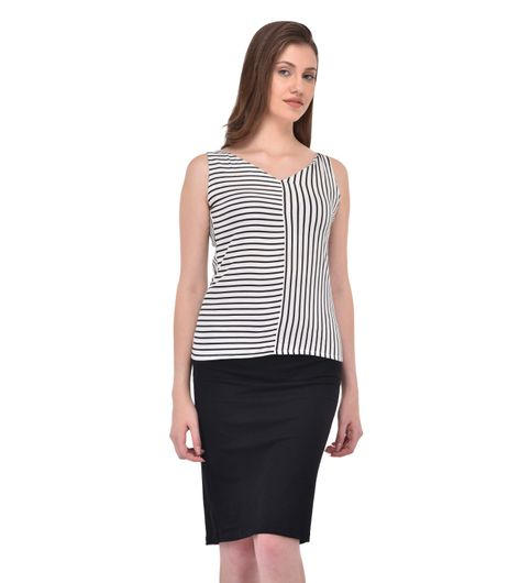 Rigo V Neck Stripe Top for women