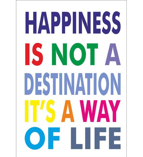 Fantaboy Happiness Quote Poster