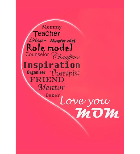 Fantaboy Love You Mom  Printed Poster