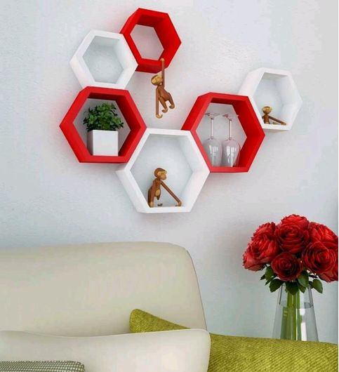 Imaginary Products Wall Shelves Set Of 6