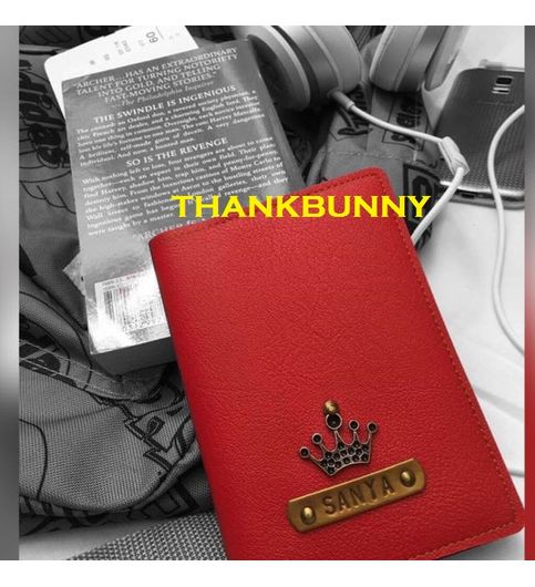 Personalised Passport Cover - Scarlet Red