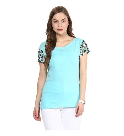 Rose Vanessa London Girl Embellished Blue Top