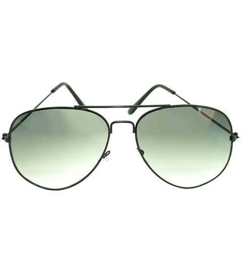 Skygge Original Aviator Black Frame Dual Shade Green Lens UV Protected Unisex Sunglasses
