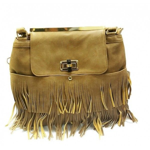 Turqueesa Boho Chick Tan Tassel Bag