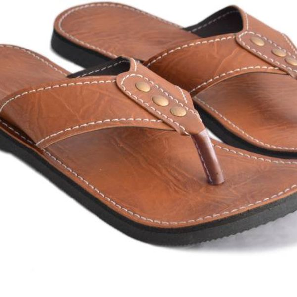 Clbohara ethnic brown slipper-1131