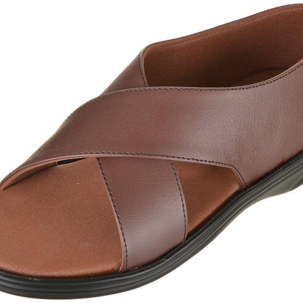 Men diabetic sandal MCP Brown Criss cross