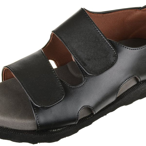 Men diabetic light weight Black sandal MCP