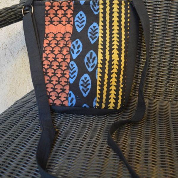 A Cotton Batik-Block Printed Sling Bag