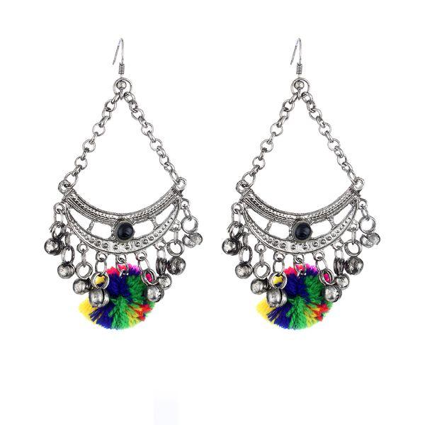 WATCH ME Banjara Boho pom Pom Trendy Fashionable Partywear Earrings Jhumki for Women Girls WMRPG-074