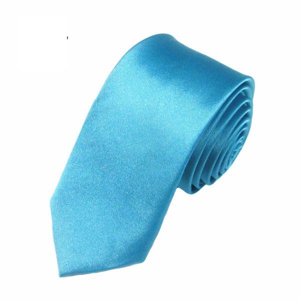 Mivera Blue Polyester Formal Skinny TiesNt2507