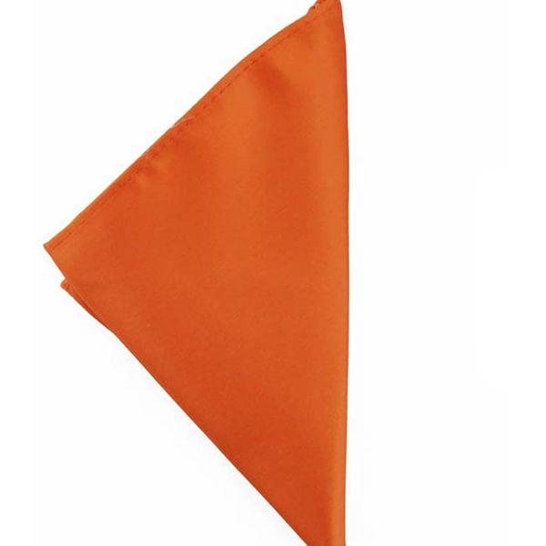 Mivera Orange Micro Fiber Pocket SquarePocketorange