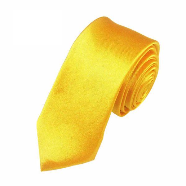Mivera Yellow Micro Fiber Skinny TieExcluNt2610